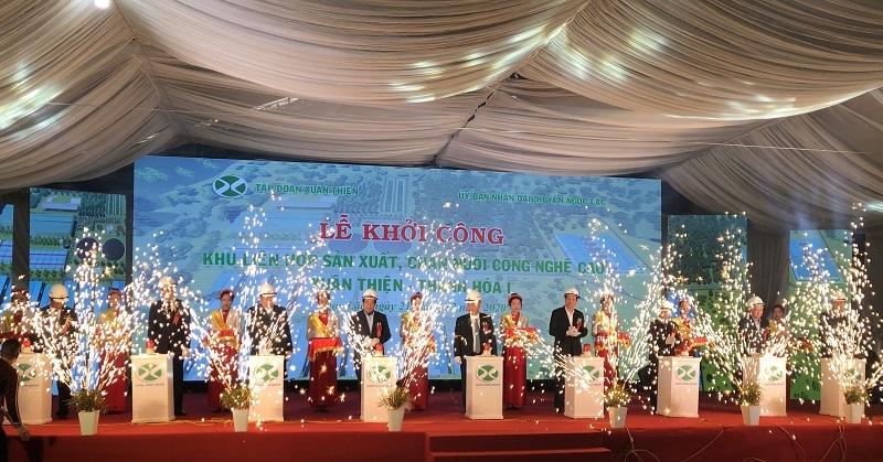 Tập đoàn Xuân Thiện khởi công Khu Liên hợp sản xuất, chăn nuôi công nghệ cao tại Thanh Hóa